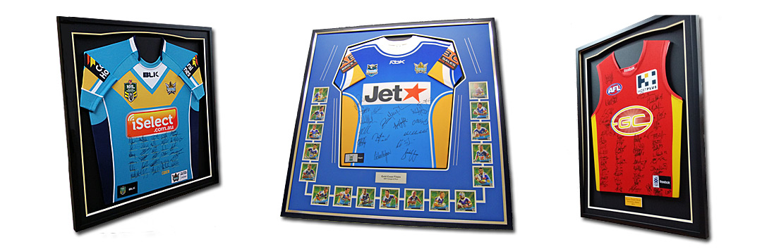 Framed Football Jerseys by Framed Just For You Gold Coast
